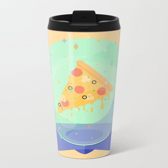 The Future is Pizza Metal Travel Mug