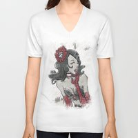 """burlesque V-neck T-shirts featuring BURLESQUE by """"dfrnt"""""""
