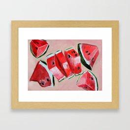 Fruit, watermelon, summer Framed Art Print