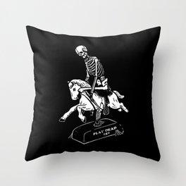 Play Dead Skeleton Throw Pillow