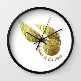 Golden Snitch Wall Clock