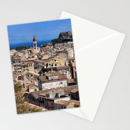 Corfu Town, Greece Stationery Cards