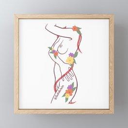 wear your flowers 2/4 Framed Mini Art Print