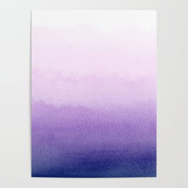 Purple Watercolor Design Poster