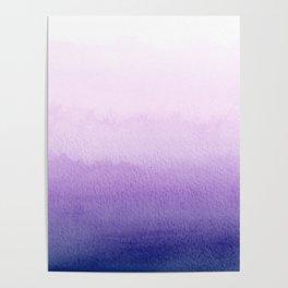 Purple Watercolor Design Poster