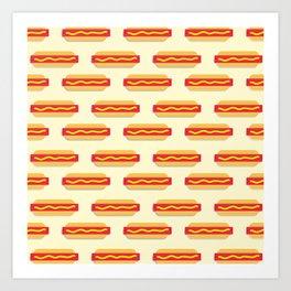 Hot Diggity Dog print Art Print