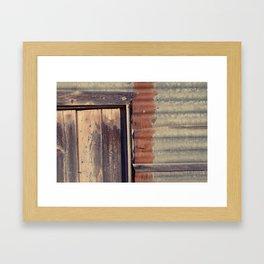 Rusted Corner Framed Art Print