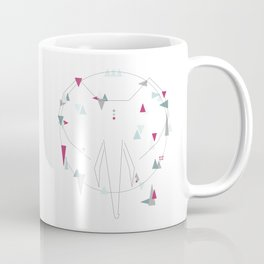 elephant. geometric Coffee Mug