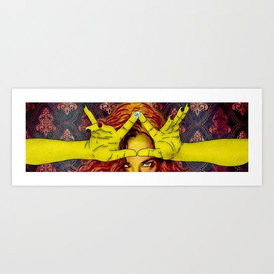 my crown while I shape it Art Print