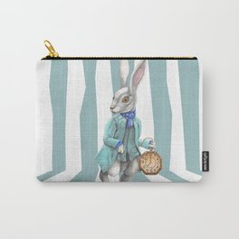 White Rabbit of Wonderland Carry-All Pouch