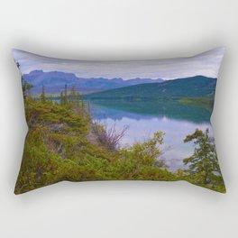 Edna Lake in Jasper National Park, Canada Rectangular Pillow