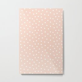 Scatter dots on peach pink Metal Print