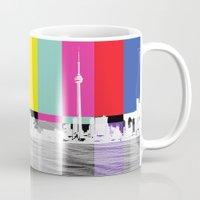 toronto Mugs featuring Toronto by Shazia Ahmad
