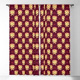 Cute running pizza slice Blackout Curtain