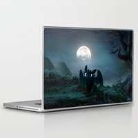 daenerys targaryen Laptop & iPad Skins featuring TOOTHLESS halloween by kattie flynn