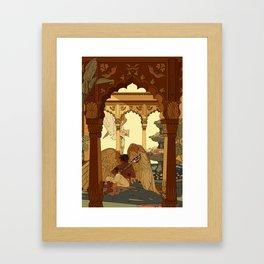 Angels in Oasis Framed Art Print