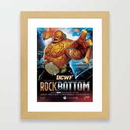 UCWF: Unlimited Class Wrestling Federation PPV Poster Framed Art Print
