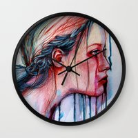agnes cecile Wall Clocks featuring The Redemption of Agnes McFee (VIDEO IN DESCRIPTION!) by Olga Noes