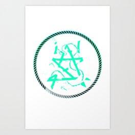I'm A Dragon Tee Art Print