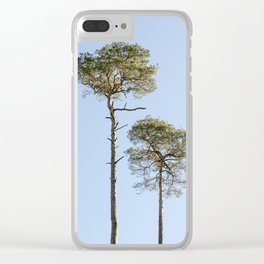 Coniferous Tree Series 2 of 3 Clear iPhone Case