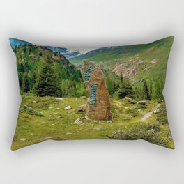 garden further alps kaunertal glacier tyrol austria europe Rectangular Pillow