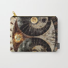 Lunar Phases Celestial Map in Black and Gold Carry-All Pouch