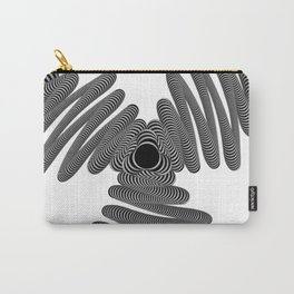 Wired in Black and White Carry-All Pouch