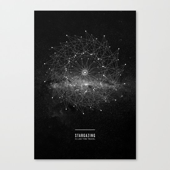 STARGAZING IS LIKE TIME TRAVEL Canvas Print