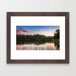 Sunset at Gunflint Lake in the Boundary Waters Framed Art Print