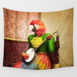 Banjo Birdy Plucks a Pretty Tune! Wall Tapestry
