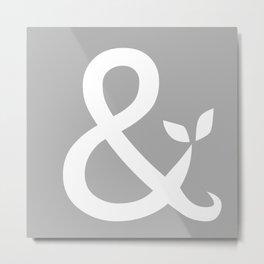 Ampersand Metal Print