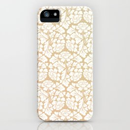 William morris pattern in gold iPhone Case