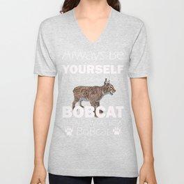 Always Be A Bobcat Love Bobcats Gift Graphic Unisex V-Neck