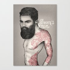 Flower´s man  Canvas Print