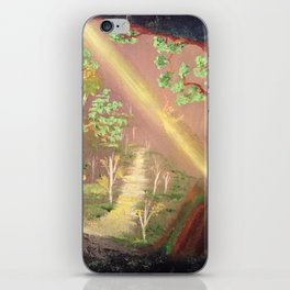 Faery forest cave iPhone Skin