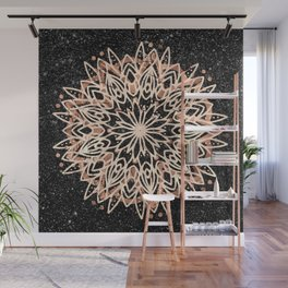 Metallic Mandala Wall Mural