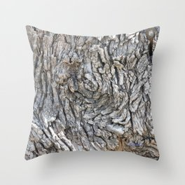 TEXTURES -- Blue Elderberry Bark Throw Pillow