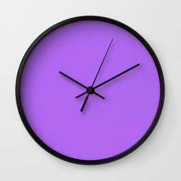 Orchid Solid Color Block Wall Clock