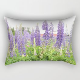 Lupine with Red Barn Rectangular Pillow