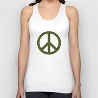 army Tank Tops featuring ARMY by Sophie