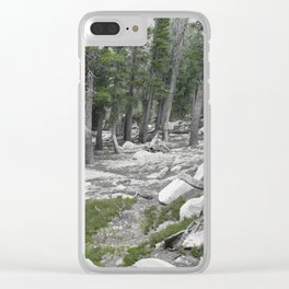 South Lake Tahoe Slope Clear iPhone Case