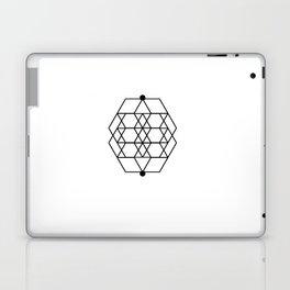 Mesh Geometry White Laptop & iPad Skin