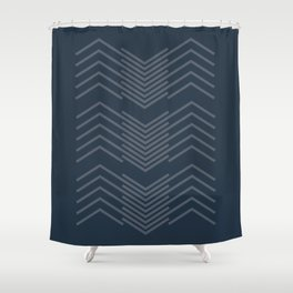 Blue Zags Shower Curtain
