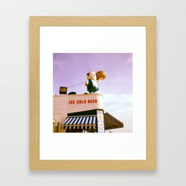 Ice Cold Beer, Coney Island Framed Art Print