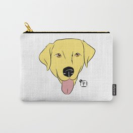 Yellow Lab Face Carry-All Pouch