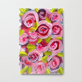 Roses on Roses on Roses Metal Print