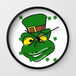 Leprechaun Iguana - St. Patrick's Day Wall Clock