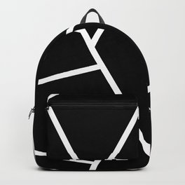 Black and White Fragments - Geometric Design II Backpack