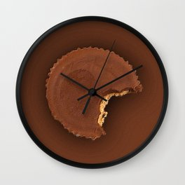 Chocolate Peanut Butter Cup Candy Wall Clock