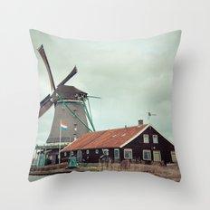 Mill away Throw Pillow